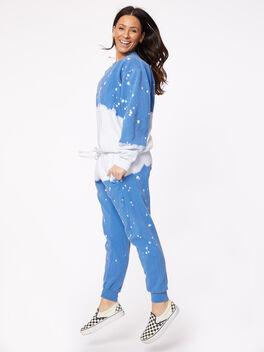 Acid Wash Vinca Pullover Blue, Blue, large