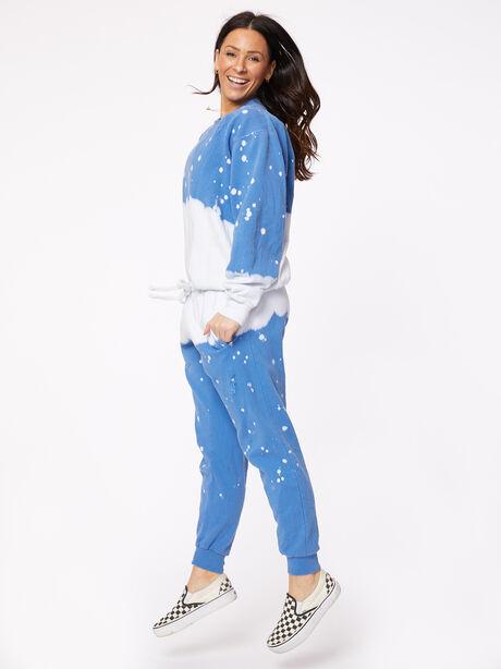 Acid Wash Vinca Pullover Blue, Blue, large image number 0
