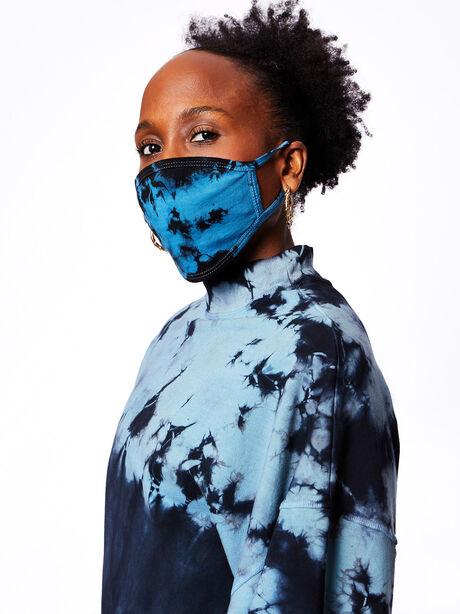 Face Mask Balboa Blue/Onyx Tie-Dye, Black/Blue, large image number 0