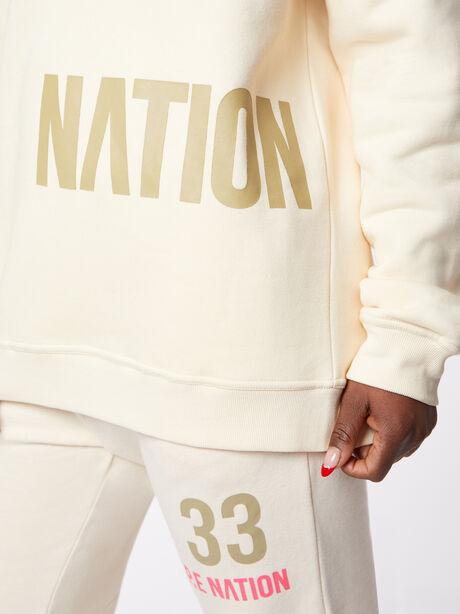 Triple Double Crewneck Sweatshirt Off-White, Off White, large image number 2