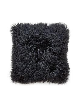 Mongolian Black Pillow, Black, large