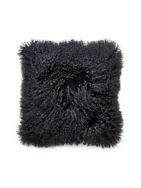 Mongolian Black Pillow, Black, large image number 0