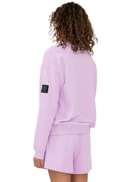 Heads Up Crew Neck Sweatshirt Orchid Bloom, Purple, large image number 2