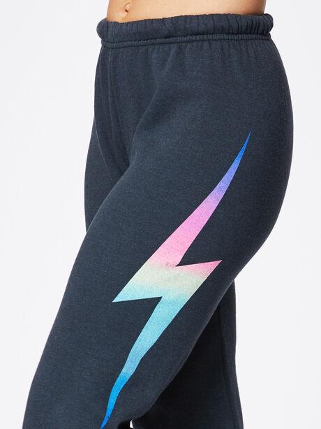 Bolt Sweatpant Charcoal, Black/Pink, large image number 1