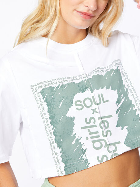 Exclusive Deconstructed Cropped T-Shirt White, White, large image number 1