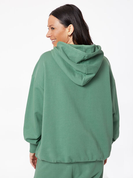 Oversized Hoodie Myrtle Green, Green, large image number 3