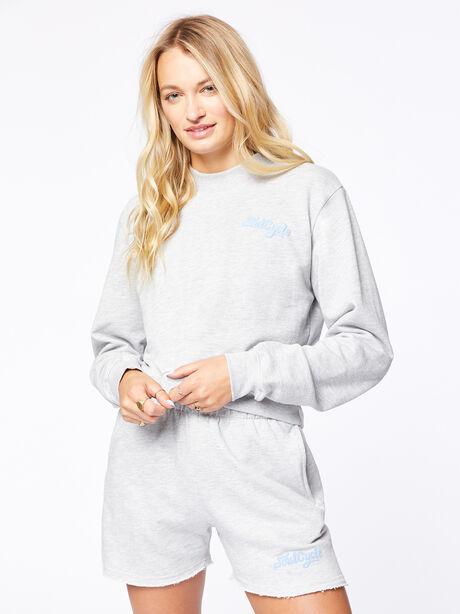 Laura Crop Sweatshirt Grey, Grey, large image number 1