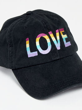 Pride Love Hat, Black, large