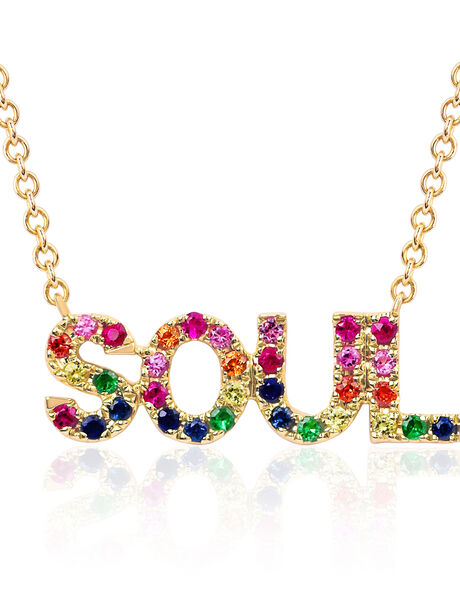 Rainbow Sapphire Necklace with Soul, Metallics, large image number 1