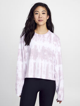 After Class Long Sleeve Pink Tie Dye, Pink/Pink, large
