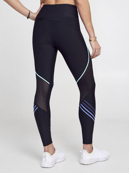 Gradient Lines Leggings, Black, large