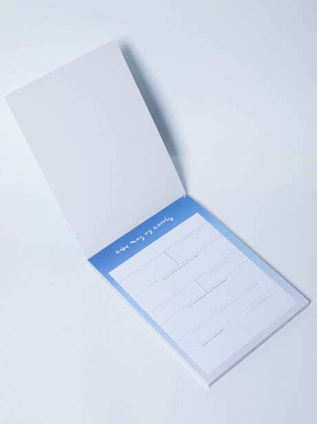 Wipe Away My Worries Notepad, Blue/White, large image number 1