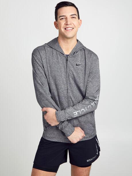 Dry Hoodie Full-Zip Hyperdry Lite Sweatshirt, Black/Htr/Black, large image number 0