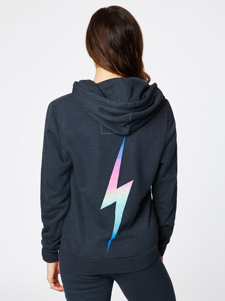 Bolt Hoodie Charcoal, Black/Pink, large image number 1