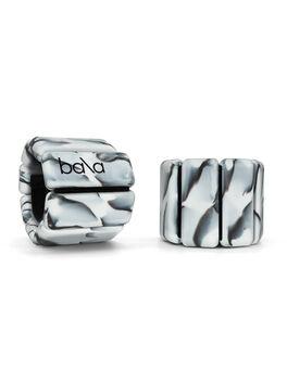 1/2 Lb Bala Bangles Black/White Marbled, Black/White Marble, large