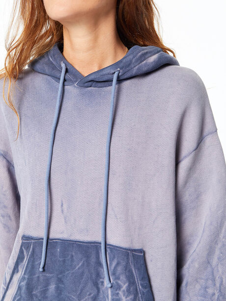 Oversized Brooklyn Hoodie Navy Mix, Navy, large image number 2