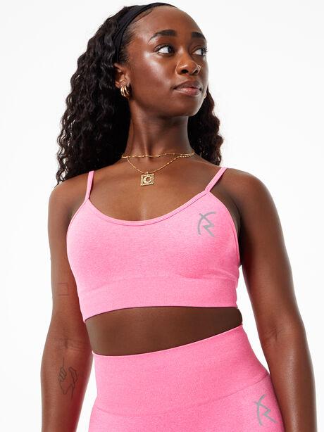 Safiyah Seamless Bra Pink, Pink, large image number 3