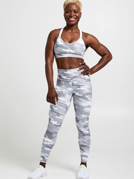 Brushed Camo Leggings, Light Grey Camo, large image number 3