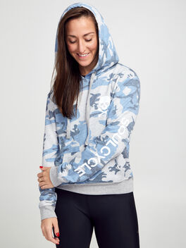 CAMO CROPPED HOODIE, Blue, large