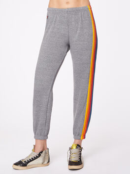 5 Stripe Sweatpant Heather Grey, Heather Grey, large
