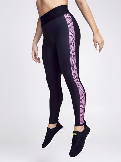 Ultra High Python Legging, Black/Pink, large image number 1