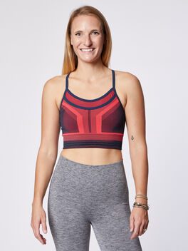 Cosmo Sports Bra, Pink, large