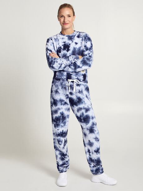 Super Slouchy Sweatpants, Navy/White, large image number 3