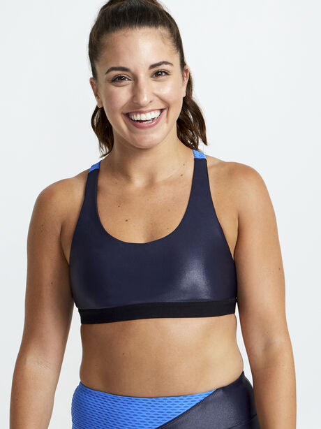 Tax Infinity Sports Bra, Blue, large image number 0