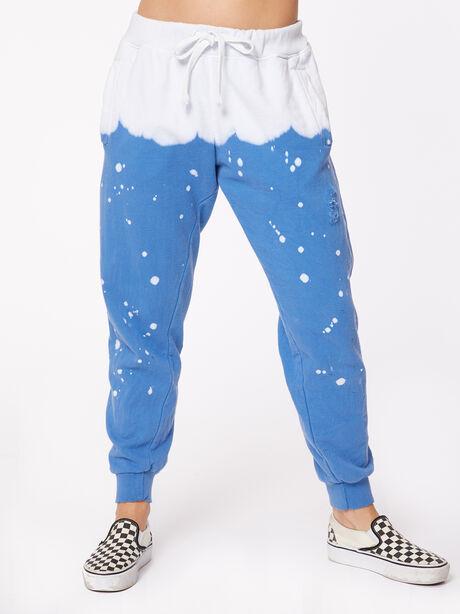 Acid Wash Vinca Sweatpant Blue, Blue, large image number 1