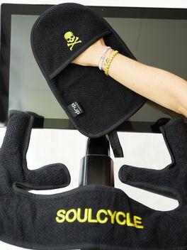 At-Home Bike Spintowel Sweat Towel Black, Black, large