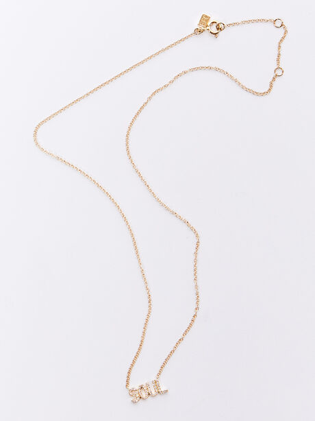 Diamond Necklace with Soul Exc, Gold, large image number 2