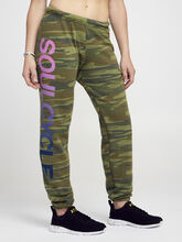 Camo Sweatpant With Pink Soul, Green/Camo, large
