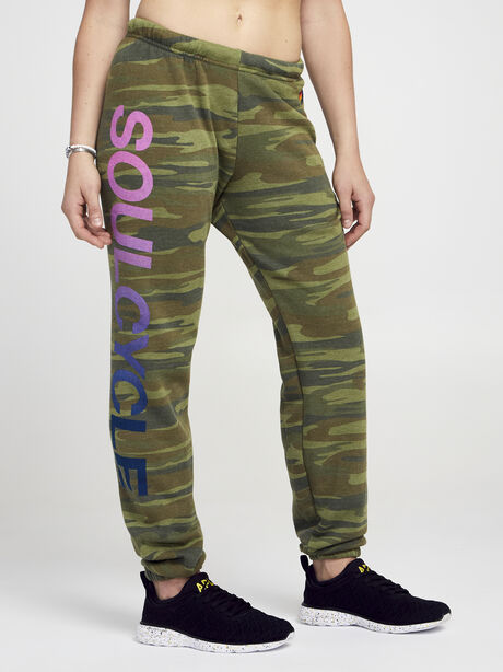 Camo Sweatpant With Pink Soul, Green/Camo, large image number 0