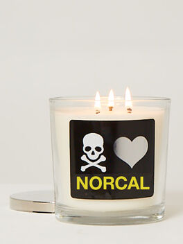 NorCal 3 Wick Candle, Clear, large