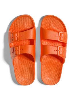 Moses Two Band Slides Vitamin C Orange, Orange, large