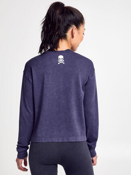 Seamless Boxy Long-Sleeve T-Shirt, Dark Grey, large image number 1