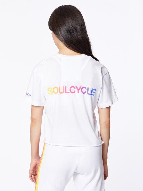 Exclusive Boyfriend Tee White/Rainbow London, White, large image number 2