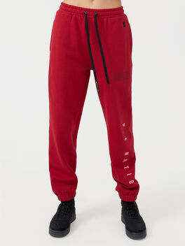 Courtside Trackpant Chilli Pepper, Red, large