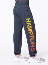 Jogger Dark Charcoal Hamptons, Black Slub, large