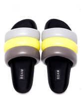 Exclusive The Puffy Slide Yellow/Grey, Yellow/Grey, large