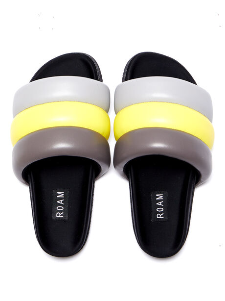 Exclusive The Puffy Slide Yellow/Grey, Yellow/Grey, large image number 0