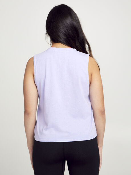 Crop Boxy Muscle Tank, Purple, large image number 2