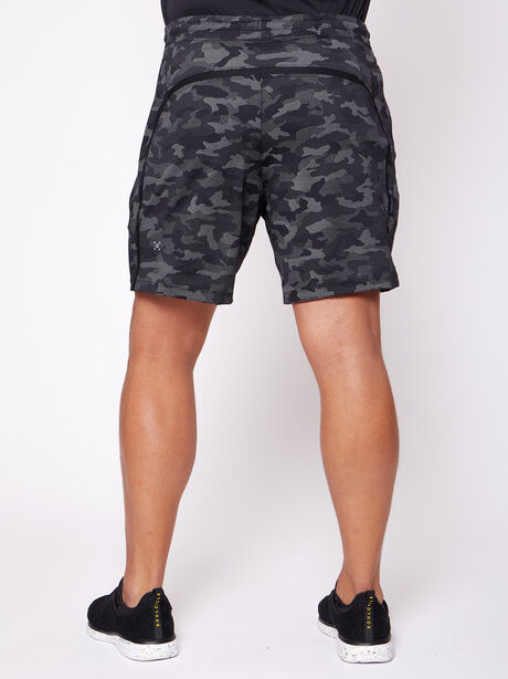 """Pace Breaker 7"""" Linerless Shorts, Variegated Mesh Camo Black, large image number 2"""