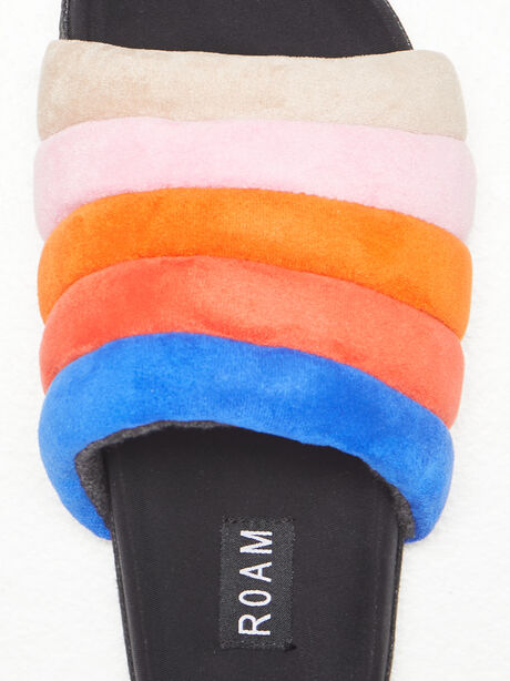The Puffy Slide Suede Multi, Multi, large image number 2