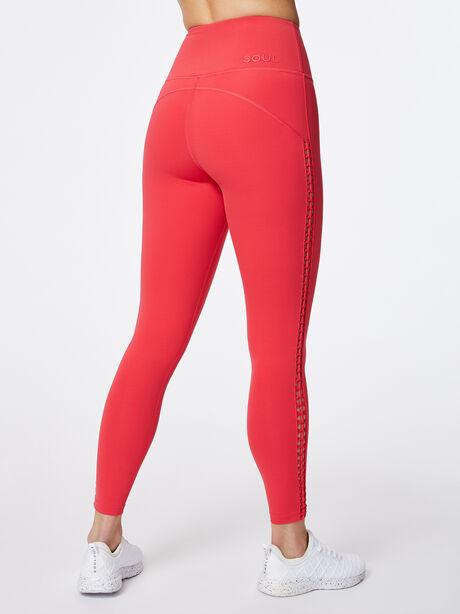 Looped Through High-Rise Podium Legging Teaberry, Hot Pink, large image number 2