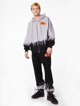 James Zip Up Hoodie Grey/Black, Grey/Black, large