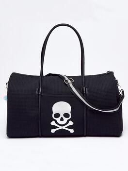 Chuchka Skull Duffle Bag, Black, large