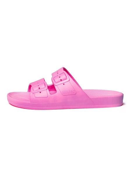 Moses Two Band Slides Bubblegum, Pink, large image number 1
