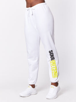 SoulOutside Super Slouch Sweatpant White, White, large