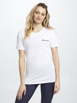 Flight Tee White, White, large